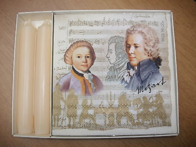 MOZART TABLE PACK Napkins & Pair of Dinner Candles