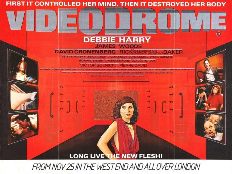 VIDEODROME Movie Poster 1983