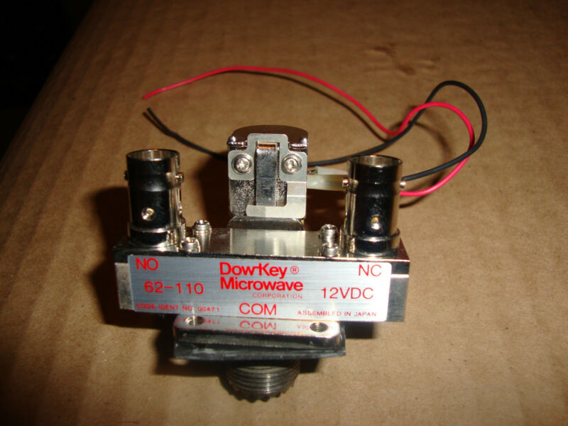 DOW KEY MICROWAVE 12VDC ANTENNA COAXIAL RELAY WITH SO-239 + BNC CONNECTORS