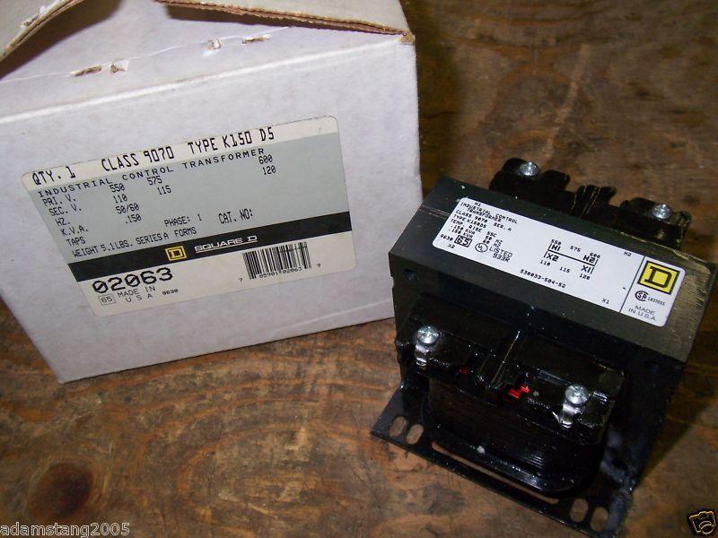 NEW SQUARE D K150-D5 9070 CONTROL TRANSFORMER