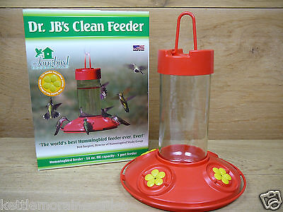 Dr. JB's Hanging Clean Hummingbird Feeder Red w Yellow 16oz Songbird Essentials