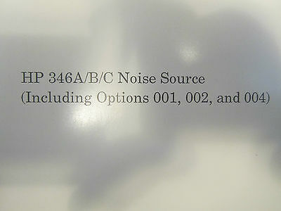 Hp 346abc Noise Source Operating And Service Manual