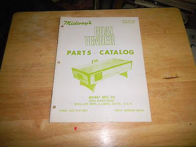 GOAL TENDER 1973 MIDWAY AIR HOCKEY PARTS CATALOG   arcade  video game manual