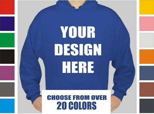 12 Custom Screen Printed Hooded Sweatshirts - Hoodies
