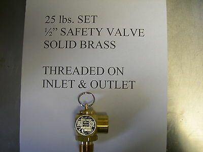 Fits Broastersolid Brass Safety Relief Valve All Mod. Fits Henny Penny Fryer To