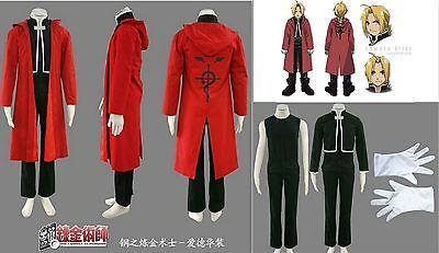 Cosplay FullMetal Alchemist Edward Elric Costumes Kostüm 6 Teile (Fullmetal Alchemist Edward Kostüm)
