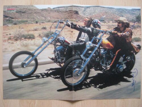 "Easy Rider ""Dennis Hopper & Peter Fonda"" Autogramme signed 28x42 cm Poster"
