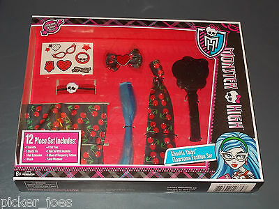 MONSTER HIGH GHOULIA YELPS 12 Piece Dress Up CLAWSOME FASHION SET NIB