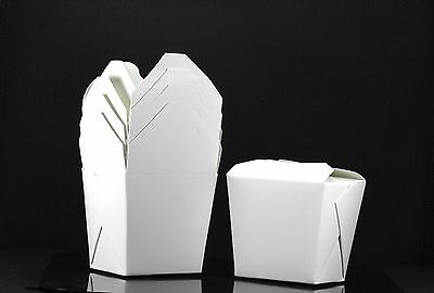 100x 16oz Chinese Take Out To Go Boxes Microwavable Party Gift Boxes White