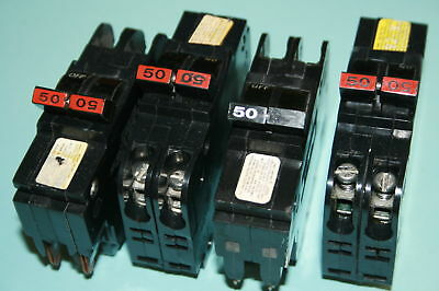 1 Federal Pacific American 50 Amp 2-pole Type Nc Breaker Thin