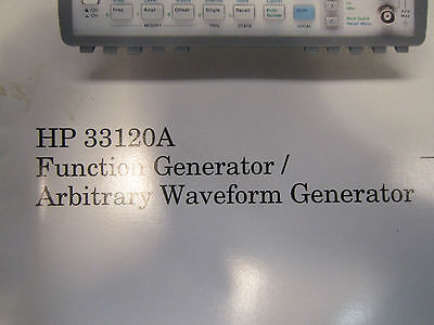 Users Guide For Hp 33120a Function Generator Arbitrary Waveform Generator
