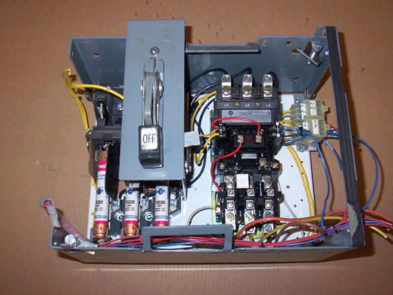 CUTLER HAMMER UNITROL F10 SIZE 2 MOTOR STARTER FUSIBLE FUSED MCCB MCC BUCKET