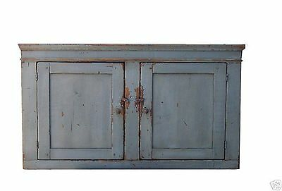 PRIMITIVE RUSTIC WALL CUPBOARD CABINET PAINTED COUNTRY FARMHOUSE FURNITURE - Pine Painted Furniture