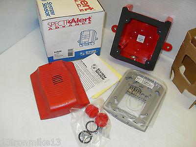 New In Box  System Sensor Spectralert Hrk Outdoor Alarm Hornback Box