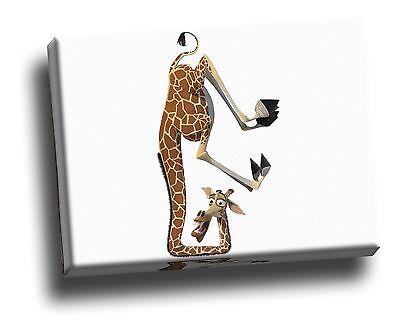 Madagascar Giraffe Headstand Giclee Canvas Picture Childrens Art ()