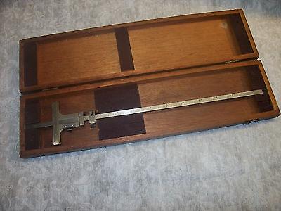 Depth Gage Vintage Starrett No. 448 .001 12 Depth Gage With Fine Adjustment