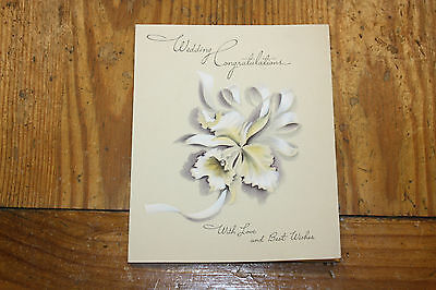 Vintage Wedding Card Wedding Congratulations With Love And Best Wishes
