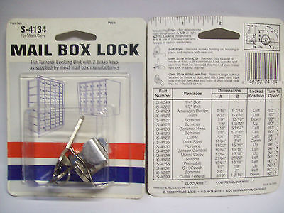 S4134 Miami Carey Mailbox Lock 1316 Nickel X2