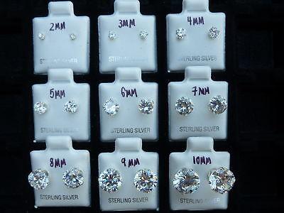Sterling Silver Butterfly Earrings ( .925 Sterling Silver Round Cut Clear Cubic Zirconia Stud Earrings)