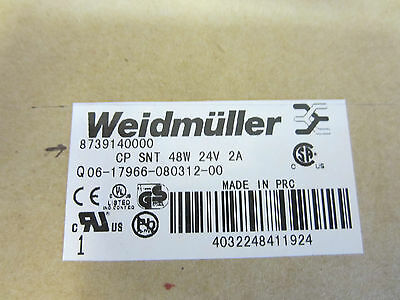 Weidmuller Power Supply 8739140000 Cp Snt 48w 24v 2a