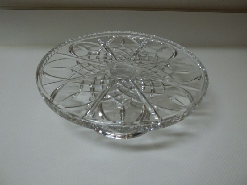 Beautiful Clear Glass Pedestal Cake Stand
