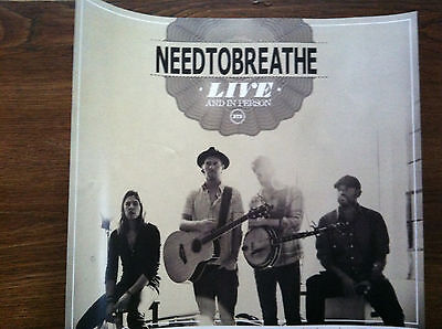 Need to Breathe promo poster for The Reckoning cd Rare