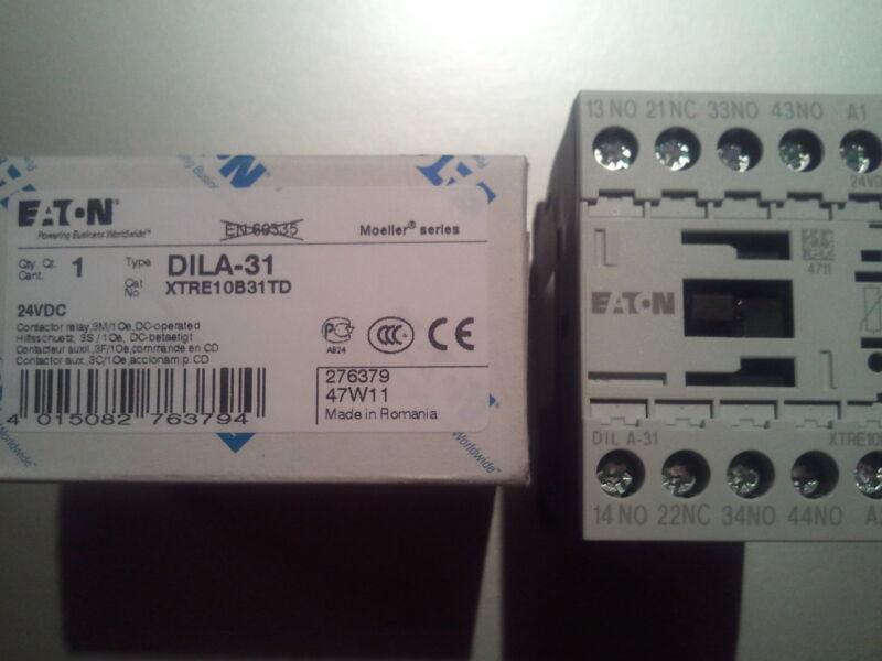 MOELLER DILA-31  24V DC**NEW IN BOX** DILA DILA31 CONTACTOR