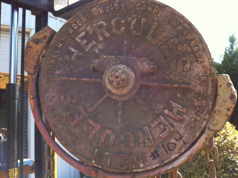 CLASSIC VINTAGE 1 Ton CHISOLM MOORE HERCULES MANUAL CHAIN HOIST