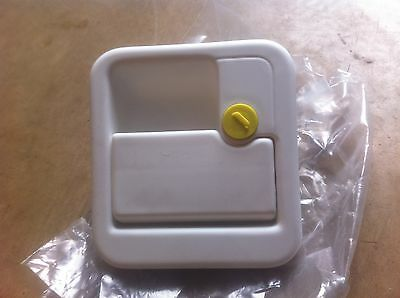 CI FAP motorhome door lock handle white