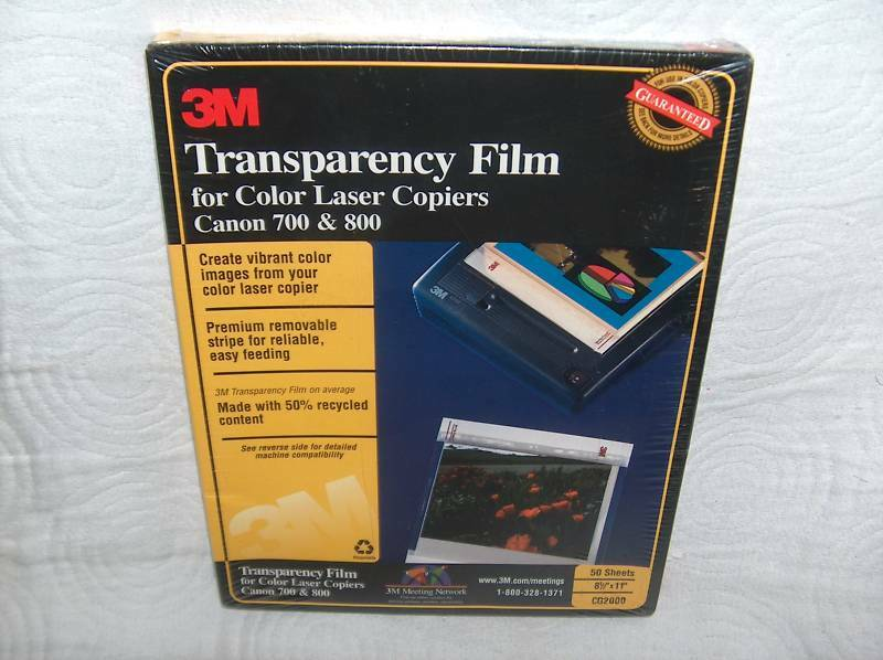 3M cg2000 Transparency Film Color Laser Copier  50 count