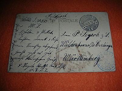 FELD POSTSTATION NO 8 DER 6 ARMEE LILLE 1915 W LDENBRONN ESSLINGEN W RTTEMBERG