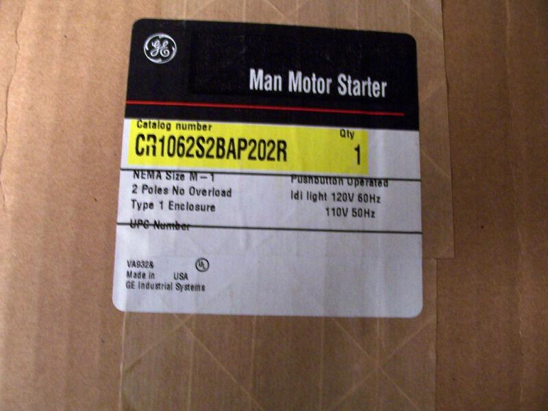 GE General Electric Manual Motor Starter Type 1 Enclosure CR1062S2BAP202R Size 1