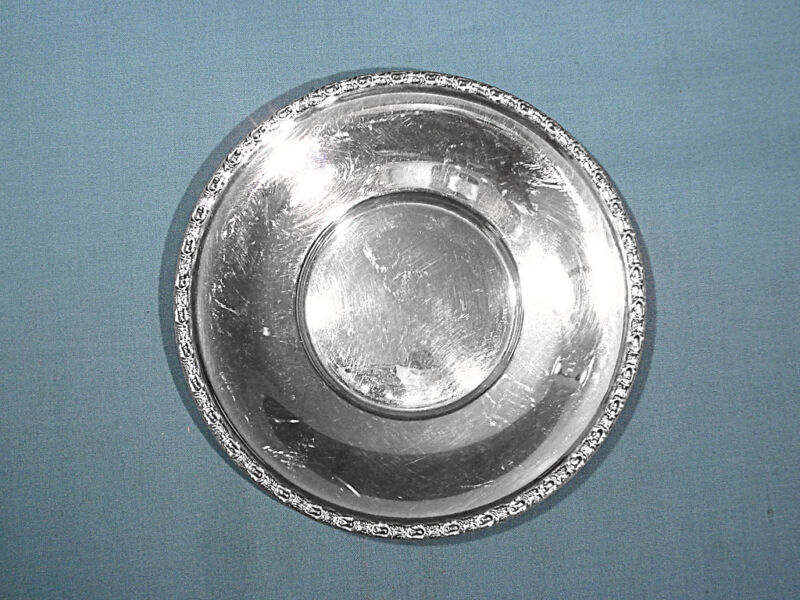 FRANK WHITING STERLING SMALL PLATE ~ TALISMAN ROSE ~ NO MONO