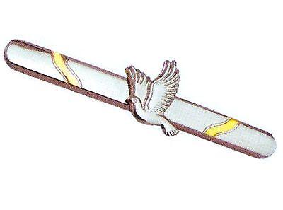 2 tie clips clasps pins men's man LOT peace Dove