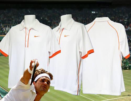 New Vintage NIKE TENNIS DriFit Polo Shirt White / Orange M