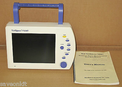 Vetspecs Vsm7 D Vital Signs Heart Rate Blood Pressure Monitor Vet Veterinarian