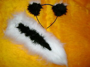 The Lost Boys Peter Pan Skunk/Tootles Ears And Tail Fancy Dress One Size Unisex