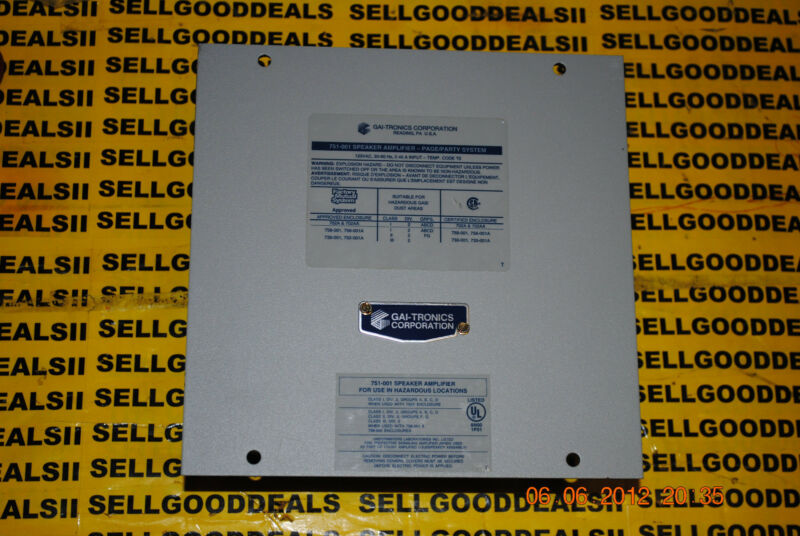 GAI-Tronics 751-001 751 Series Page/Party System Amplifier 751001 New