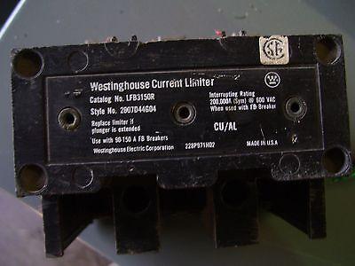 Westinghouse Current Limiter Cat Lfb3150r Style 2607d44g04