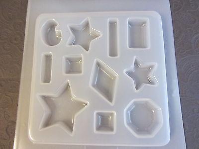 (Resin Mold Stars Jewels 11 Count Jewelry Octagon Diamond Bar Rectangle Star)