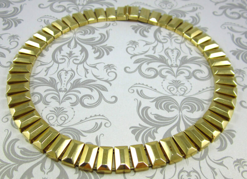 "Stunning 14k Yellow Gold Necklace 77.6 Grams 16-7/8"" *gia $9,400.00*"