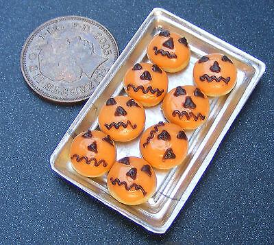 1:12 Escala 8 Suelto Halloween Donuts en una Bandeja Tumdee Casa de Muñecas](De Unas De Halloween)