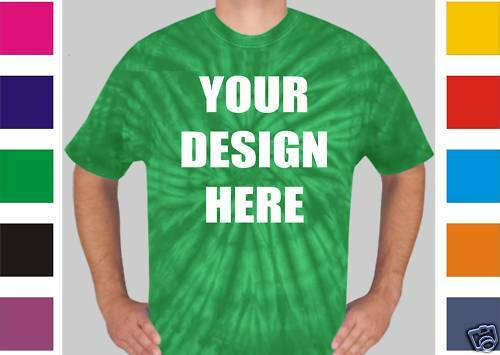 50 Custom Screen Printed TIE DYE T-Shirts TYE - $8.00 ea
