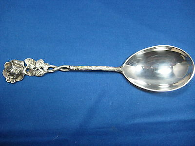3665000 800 silver 6x mocca spoon 1x cream spoon rose around 1930