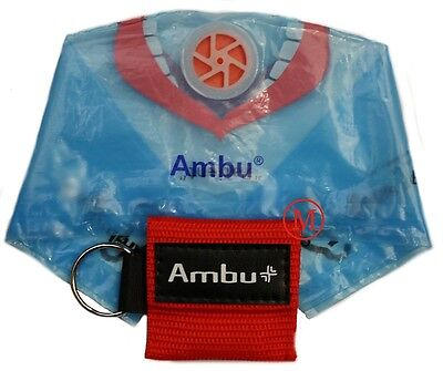 Ambu Res-Cue Key MINI CPR Keychain Mask / Face Shield Barrier Kit