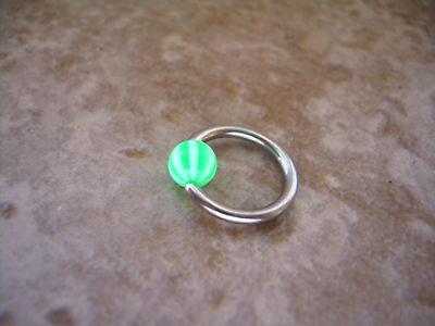 Beach Ball Stripe Captive Bead Ring 16g 3/8