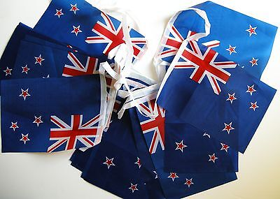 Super Flag of New Zealand Fabric Bunting 5.5m 20 Flags 1st Class