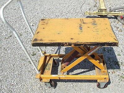 Vestil 100kg-200kg Spring Assisted Scissor Die Lifting Table Cart