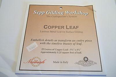 Copper Leaf Lampworking 25 Sheets Gilding Beadmaking Glass Fusing Kiln 5.25 Feet