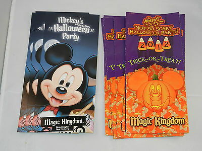 2012 MICKEY'S NOT SO HALLOWEEN PARTY FLYER & MAP PACKAGE